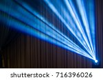 concert spot lighting beam with ... | Shutterstock . vector #716396026