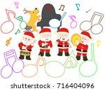a fun christmas concert. | Shutterstock .eps vector #716404096
