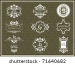 vector set vintage labels 3 | Shutterstock .eps vector #71640682