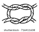 rope   cartoon vector and... | Shutterstock .eps vector #716411638