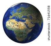 terrestrial globe | Shutterstock . vector #71641558