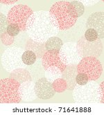Abstract Seamless Polka Dot...