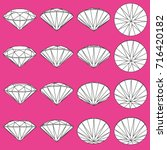 set of diamonds from different... | Shutterstock .eps vector #716420182