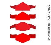 banner red set. emblem modern... | Shutterstock . vector #716427832