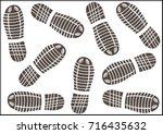sneakers shoes footprints... | Shutterstock .eps vector #716435632