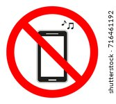 sign forbidden music in the... | Shutterstock .eps vector #716461192