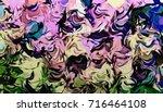 abstract illustration art chaos ...   Shutterstock . vector #716464108