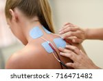 electro stimulation in physical ... | Shutterstock . vector #716471482