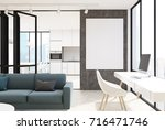 white living room interior with ... | Shutterstock . vector #716471746