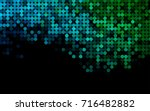 light blue  green vector red... | Shutterstock .eps vector #716482882