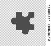 puzzle piece vector icon eps 10.... | Shutterstock .eps vector #716488582