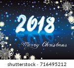 christmas and new years... | Shutterstock .eps vector #716495212