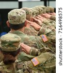 us soldiers saluting | Shutterstock . vector #716498575