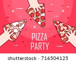illustration with hands and...   Shutterstock .eps vector #716504125