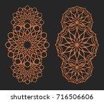 laser cutting set. wall panels. ...   Shutterstock .eps vector #716506606