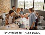 young teamwork at the meeting  .... | Shutterstock . vector #716510302