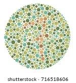 ishihara color test color blind ... | Shutterstock .eps vector #716518606