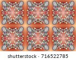 crystal snowflake in colors on... | Shutterstock . vector #716522785