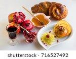 jewish new year rosh hashanah...   Shutterstock . vector #716527492