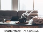 still life details in home... | Shutterstock . vector #716528866