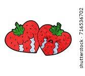 cartoon strawberries   Shutterstock .eps vector #716536702