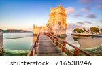 the belem tower  torre de belem ... | Shutterstock . vector #716538946