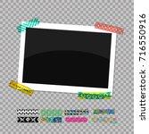 rectangular photo frame. photo... | Shutterstock .eps vector #716550916