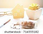 business  finance  saving money ...   Shutterstock . vector #716555182