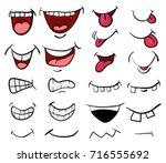 cartoon mouth set vector symbol ... | Shutterstock .eps vector #716555692