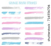 modern watercolor daubs set ... | Shutterstock .eps vector #716556706