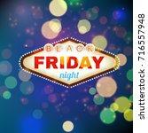 black firday retro light frame... | Shutterstock . vector #716557948