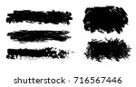 grunge paint stripe. vector... | Shutterstock .eps vector #716567446