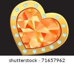 precious heart with diamond and ...