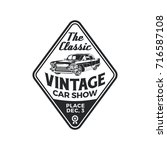 old style vintage classic car... | Shutterstock .eps vector #716587108