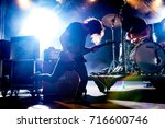 Small photo of Lierop, the Netherlands - August 18, 2017: Paul Dokman en Jesper Albers of Dutch alternative rock band The Paceshifters perform live on stage at Nirwana Tuinfeest music festival.