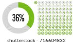set of circle percentage... | Shutterstock .eps vector #716604832