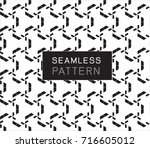 seamless pattern with simple... | Shutterstock .eps vector #716605012