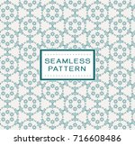 vintage floral seamless pattern.... | Shutterstock .eps vector #716608486