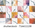 abstract home decorative art... | Shutterstock . vector #716611138
