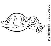 cartoon squid | Shutterstock .eps vector #716614102