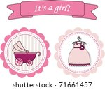 it's a baby girl  | Shutterstock .eps vector #71661457