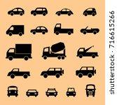 vehicle transport cars vector... | Shutterstock .eps vector #716615266