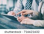 business meeting executive... | Shutterstock . vector #716621632