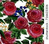 floral seamless pattern.... | Shutterstock . vector #716623306