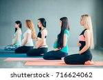 group of pregnant womans... | Shutterstock . vector #716624062