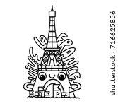 outline vector illustration of... | Shutterstock .eps vector #716625856