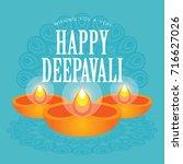 diwali or deepavali greetings... | Shutterstock .eps vector #716627026