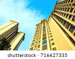 high rise residential district  ...   Shutterstock . vector #716627335