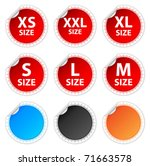 red size stickers set | Shutterstock .eps vector #71663578