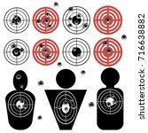 vector set of different bullet...   Shutterstock .eps vector #716638882